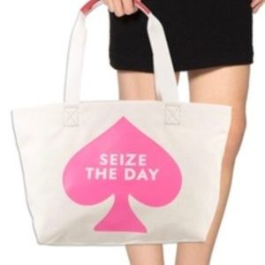 KATE SPADE SEIZE THE DAY CANVAS TOTE BAG